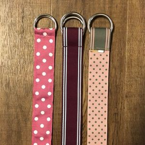 Accessories - 🖤 SALE! LIKE NEW! 3 Reversible Fabric Belts
